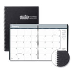House Of Doolittle One-Year Monthly Hard Cover Planner, 8 1/2 x 11, Black, 2019
