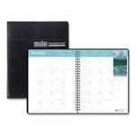 House Of Doolittle Earthscapes™ Full Color Monthly Planner, Ruled One Month/Spread, 8 1/2x11, Black