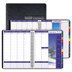 "House Of Doolittle Weekly/Monthly Planner, 12 Month, One Week/Spread, 8 1/2"" x 11"", Black"