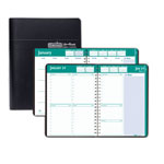 House Of Doolittle Recycled Express Track Weekly/Monthly Appointment Book, 8.5x11, Black, 2017-2018