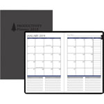 House Of Doolittle Productivity and Goal Planner, 6 1/4 x 9 1/4, Blue, 2019