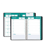 "House Of Doolittle ExpressTrack Daily/Monthly Appointment Book, Hourly Appointments, 5"" x 8"", Black"