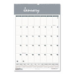 "House Of Doolittle One Month Per Page Wirebound Monthly Wall Calendar, 12"" x 17"""