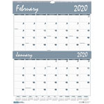 "House Of Doolittle Two-Months-per-Page Wirebound Wall Calendar, 20"" x 26"", 2013-2014"