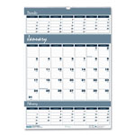 "House Of Doolittle Three Months Per Page Wirebound Wall Calendar, 12"" x 17"""