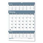 House Of Doolittle Three Months Per Page Wirebound Wall Calendar, 15 1/2 x 22