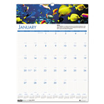 "House Of Doolittle Wall Calendar, Seal Life Photo, Jan-Dec, Wire Bound, 12"" x 16-1/2"""
