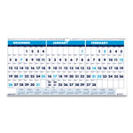 House Of Doolittle Recycled Three-Month Horizontal Wall Calendar, 23 1/2 x 12, 14-Month, 2016-2018
