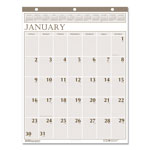 House Of Doolittle Recycled Large Print Monthly Wall Calendar, Leatherette Binding, 20 x 26, 2017
