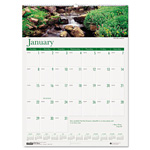 "House Of Doolittle Earthscapes™ Waterfalls Of The World Monthly Wall Calendar, 12"" x 16 1/2"""
