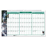 "House Of Doolittle Gardens Of The World 3-Month/Page Wall Calendar, 21"" x 12 3/8"""