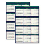 House Of Doolittle Recycled 4 Seasons Reversible Business/Academic Calendar, 24 x 37, 2018-2019