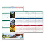 "House Of Doolittle Earthscapes™ Reversible/Erasable Yearly Wall Calendar, 24"" x 37"", Full color"