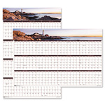 House Of Doolittle Earthscapes Coastline Scenes Reversible/Erasable Yearly Wall Calendar, 24 x 37