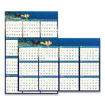 House Of Doolittle Earthscapes Sea Life Scenes Reversible/Erasable Yearly Wall Calendar, 24 x 37