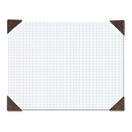 House Of Doolittle Refillable Compact Doodle Pad, Ruled Pad, 18 1/2 x 13, White/Brown