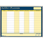 "House Of Doolittle In/Out Laminated Planner, 32"" x 21"", Aluminum Frame/Multi"