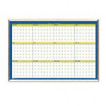 House Of Doolittle 12mo Wall Planner, Laminated, 40 x 26, Blue/White/YW/Silver