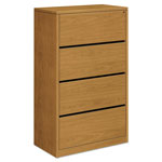 Hon 10500 Series Four-Drawer Lateral File, 36w x 20d x 59-1/8h, Harvest