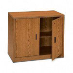 "Hon 10500 Series Storage Cabinet, 40""x19""x80"", Oak"