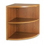 Hon 10500 Series 2 Shelf End Cap Bookshelf, Medium Oak, 24w x 24d x 29 1/2h