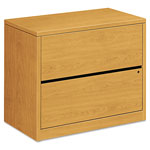 Hon 10500 Series Two-Drawer Lateral File, 36w x 20d x 29-1/2h, Harvest, Medium Oak