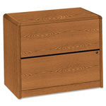 Hon 10600 Series Two Drawer Lateral File, 36w x 20d x 29 5/8h, Medium Oak