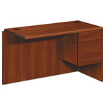 "Hon 10700 ""L"" Workstation Return, Right 3/4 Pedestal, 48w x 24d x 29 1/2h, Cognac"
