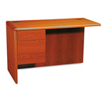 "Hon 10700 Series ""L"" Workstation Left Return, 3/4 Pedestal, Henna Cherry, 48 x 24"