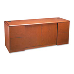 Hon 10700 Series Credenza with Doors & File Pedestals, Henna Cherry, 72 x 24