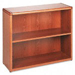 Hon 10700 Series Bookcase, 2 Shelves, 36w x 13-1/8d x 29-5/8h, Medium Oak