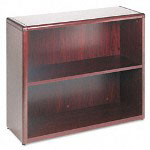 Hon 10700 Series Bookcase, 2 Shelves, 36w x 13-1/8d x 29-5/8h, Mahogany