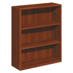 Hon 10700 Series Wood Bookcase, Three Shelf, 36w x 13 1/8d x 43 3/8h, Cognac