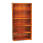 Hon 10700 Series Wood Bookcase, 5 Shelves, Henna Cherry, 36w x 13 1/8d x 71h