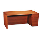 Hon 10700 Series Desk with Full Height Right Pedestal, Henna Cherry, 72w x 36d