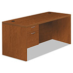 Hon Valido 11500 Series Left Pedestal Desk, 66w x 30d x 29 1/2h, Bourbon Cherry