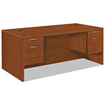 Hon Valido 11500 Series Double Ped. Rectangle Top Desk, 72 x 36, Bourbon Cherry