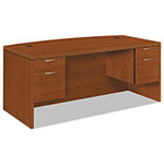 Hon Valido 11500 Bow Top Double Pedestal Desk, 72w x 36d x 29 1/2h, Bourbon Cherry