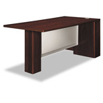 "Hon Attune Series Right Peninsula with End Panel 72"" x 36"" x 29-1/2, Mahogany"
