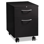 "Hon Flagship Mobile Box/File Pedestal, Arch Pull, 22-7/8"" Deep, Black"