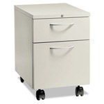 "Hon Flagship Mobile Box/File Pedestal, Arch Pull, 22-7/8"" Deep, Light Gray"