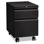 "Hon Flagship Mobile Box/File Pedestal, Full Radius Pull, 22-7/8"" Deep, Black"