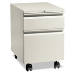 "Hon Flagship Mobile Box/File Pedestal, Full Radius Pull, 22-7/8"" Deep, Light Gray"
