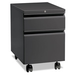 "Hon Flagship Mobile Box/File Pedestal, Full Radius Pull, 22-7/8"" Deep, Charcoal"