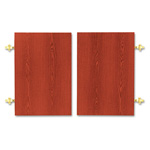 "Hon Doors for 60 1/8"", 72 5/8"" & 84"" Laminate Bookcases, Henna Cherry, Pair"