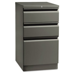 Hon Flagship Mobile Box/Box/File Pedestal, Full Radius Pull, 19-7/8d, Charcoal
