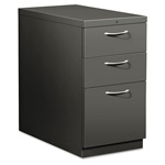 Hon Flagship Mobile Box/Box/File Pedestal, Arch Pull, 28-7/8d, Charcoal
