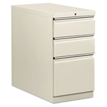 Hon Flagship Mobile Box/Box/File Pedestal, Full Radius Pull, 28-7/8d, Light Gray