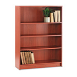 "Hon Laminate Bookcase with Square Edge, 4 Shelf, 36""x48 3/4"", Henna Cherry"