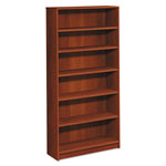 Hon 1870 Series Bookcase, Six Shelf, 36w x 11 1/2d x 72 5/8h, Cognac